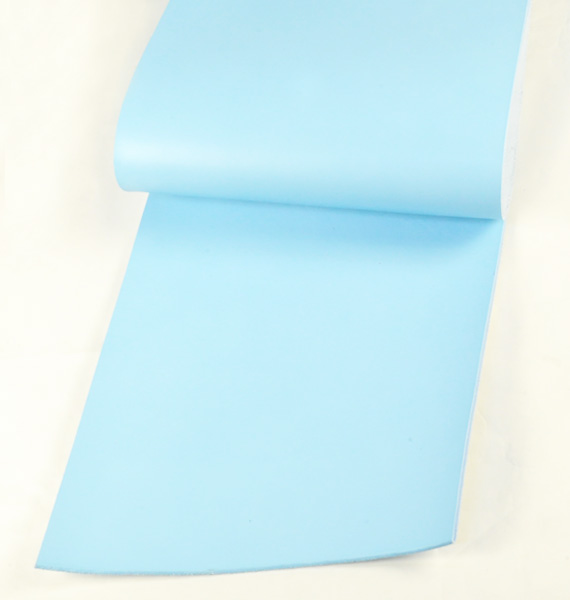 Leather cut in 30cm width, LC Premium Dyed Leather Struck Through <Sky Blue>