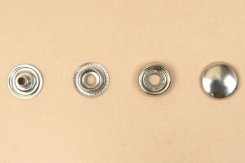 (J9) Brass Snap Fastener (LONG POST) - Nickel Plating - Small
