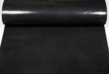 Leather cut in 60cm width,   Leather Glazed Tochigi <Black>