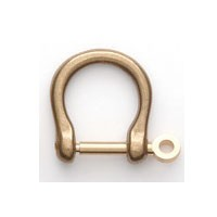 Solid Brass Shackle - M - 14 mm (1 pc)