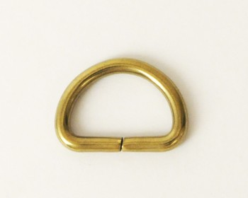 Solid Brass D-Ring - 12 mm