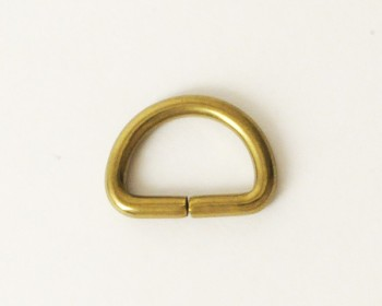 Solid Brass D-Ring - 10 mm