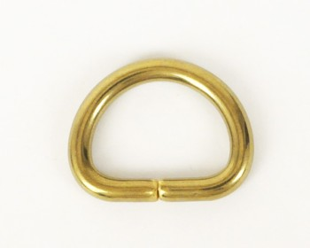 Solid Brass D-Ring - 16 mm
