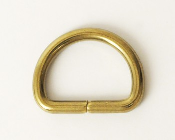 Solid Brass D-Ring - 18 mm