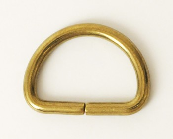 Solid Brass D-Ring - 21 mm