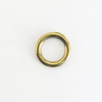 Cast Round Ring Solid Brass - 12 mm
