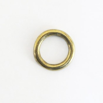 Cast Round Ring Solid Brass - 15 mm