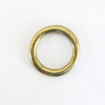 Cast Round Ring Solid Brass - 18 mm