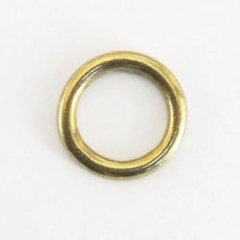 Cast Round Ring Solid Brass - 21 mm