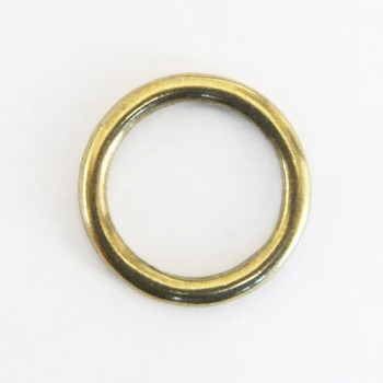 Cast Round Ring Solid Brass - 24 mm