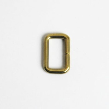 Strap Keeper Loops Solid Brass - 15 mm