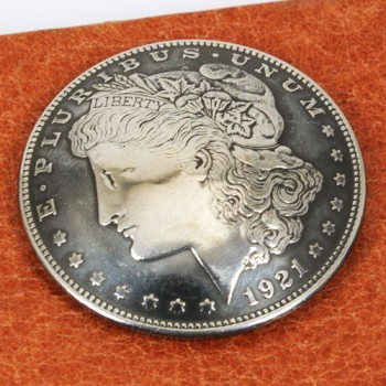 Morgan Dollar 1921 Matte Finish (Obverse)  VF <Screw Back>