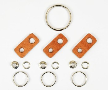 Leather Key Ring Kit - Hermann Oak Harness Leather(5 sets)