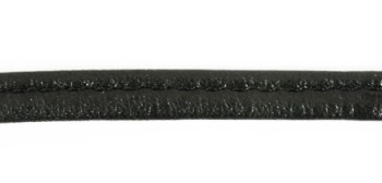 Leather Handle - Round - 8 mm -  Black