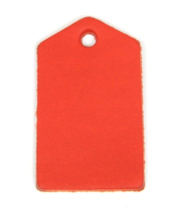Leather Tag (Home Plate) - Various Color Leather