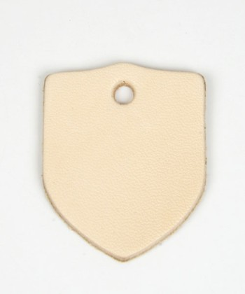 Leather Tag (Shield) - LC Tooling Leather Standard(5 pcs)