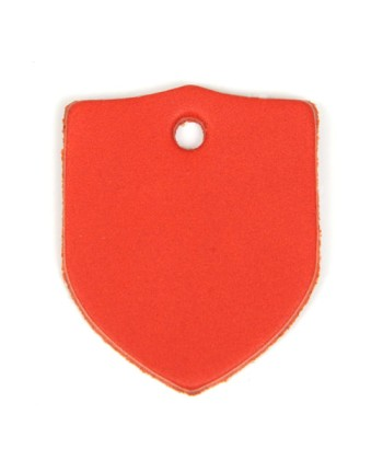 Leather Tag (Shield) - Various Color Leather(1 pc)