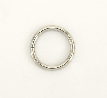 Iron Jump Ring - 21 mm - Nickel