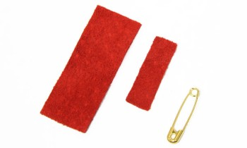 Leather Ribbon Pin kit<Small> - LC Pig Suede