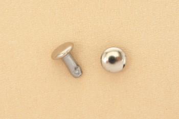 Long Double Cap Rivets 6 mm - Nickel
