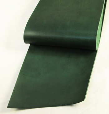 Leather cut in 30cm width, LC Premium Dyed Leather Struck Through <Green>(32 sq dm)