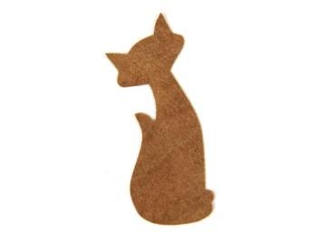 <Suede Leather>Animal Charm ( Vintage Cat ) (5 pcs)