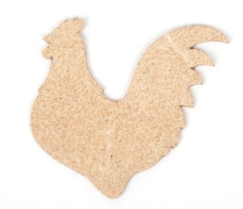 Bird Charm <Backing Charm> - Rooster (5 pcs)