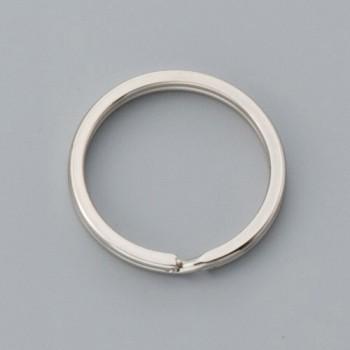 Flat Double Split Key Ring - Nickel