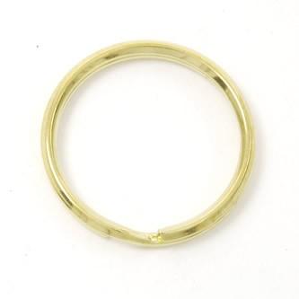 Double Split Key Ring - Brass  - 33mm
