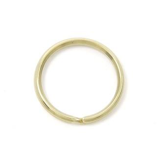 Double Split Key Ring Brass - 25 mm