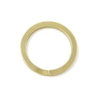 Flat Double Split Key Ring Brass 25 mm