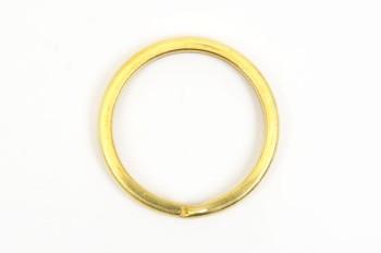 Flat Double Split Key Ring - Solid Brass