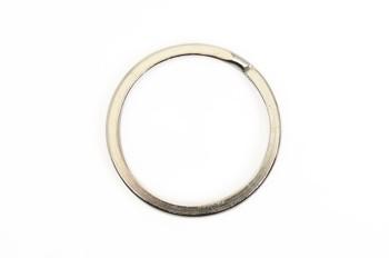 Flat Double Split Key Ring - Nickel Plated Brass