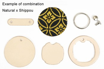 Japanese Pattern Inlay Key Fob Kit <Tooling Leather Standard>