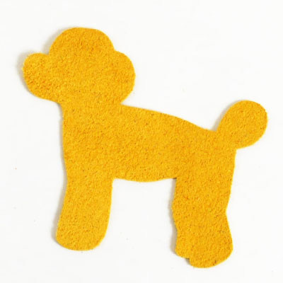 <Suede Leather>Animal Charm Toy Poodle (5 pcs)