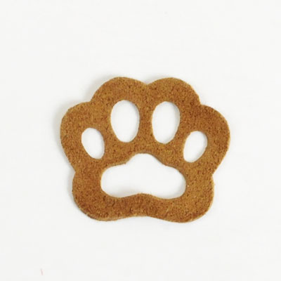 <Suede Leather>Animal Charm Paw(5 pcs)