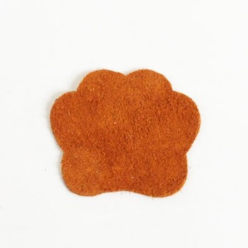 <Suede Leather>Animal Charm Paw(Backing) (1 pc)