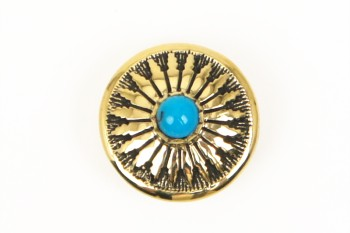 Stone Concho Turquoise <16 mm>