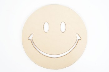 Leather  Coaster <Smile> - LC Tooling Leather Standard