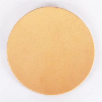 Round Coaster - Hermann Oak Tooling Leather