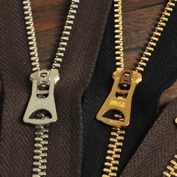 YKK Zipper <OLD AMERICAN>#3 20cm Nickel (GSN84UNV8 Slider)(5 pcs)