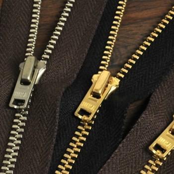 YKK Zipper <OLD AMERICAN>#3 10 cm Nickel (GA5UNV Slider)(5 pcs)