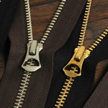 YKK Zipper <OLD AMERICAN>#5 50 cm Nickel (GAOAZ6 Slider) (1 pc)
