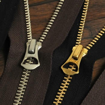 YKK Zipper <OLD AMERICAN>#5 40 cm Gold (GAOAZ6 Slider) (1 pc)