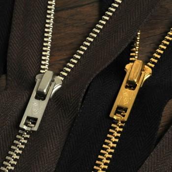 YKK Zipper <OLD AMERICAN>#5 40 cm Nickel (GAUNV9) (1 pc)