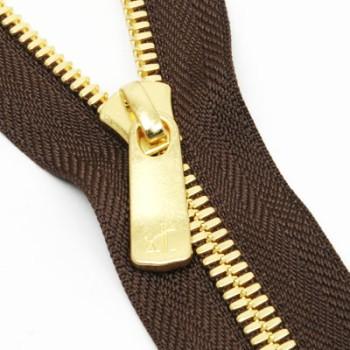 YKK Zipper <EXCELLA>#5 50cm Golden Brass