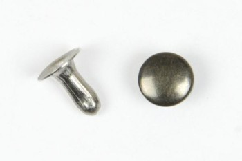Single Cap Rivet 6 mm Antique