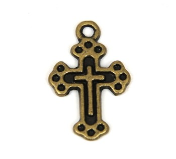 Pewter Charm - Cross(5 pcs)