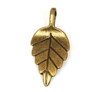 Pewter Charm - Leaf (1 pc)