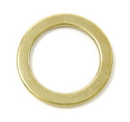 Cast Brass Flat Ring - 40 mm